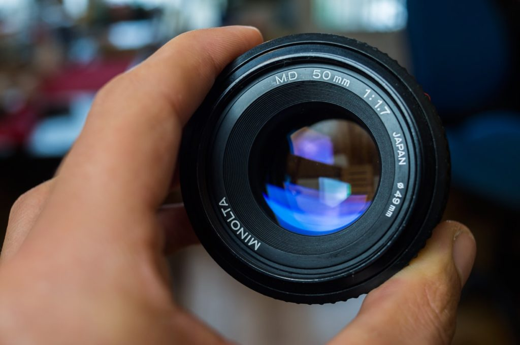 objectif minolta MD 50mm f1.7 à pleine ouverture