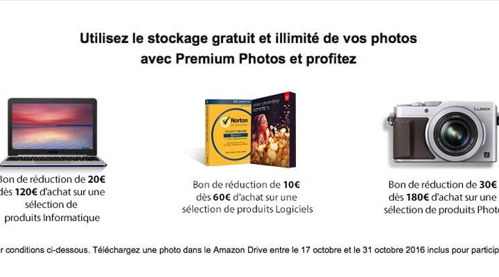 Amazon offre des bon de reductions grace à son nouveau service photo !