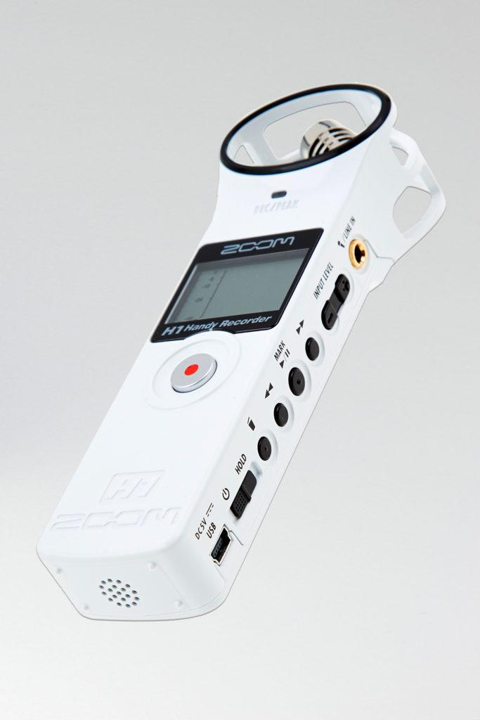 Le enregistreur H1 de marque zoom en version blanc