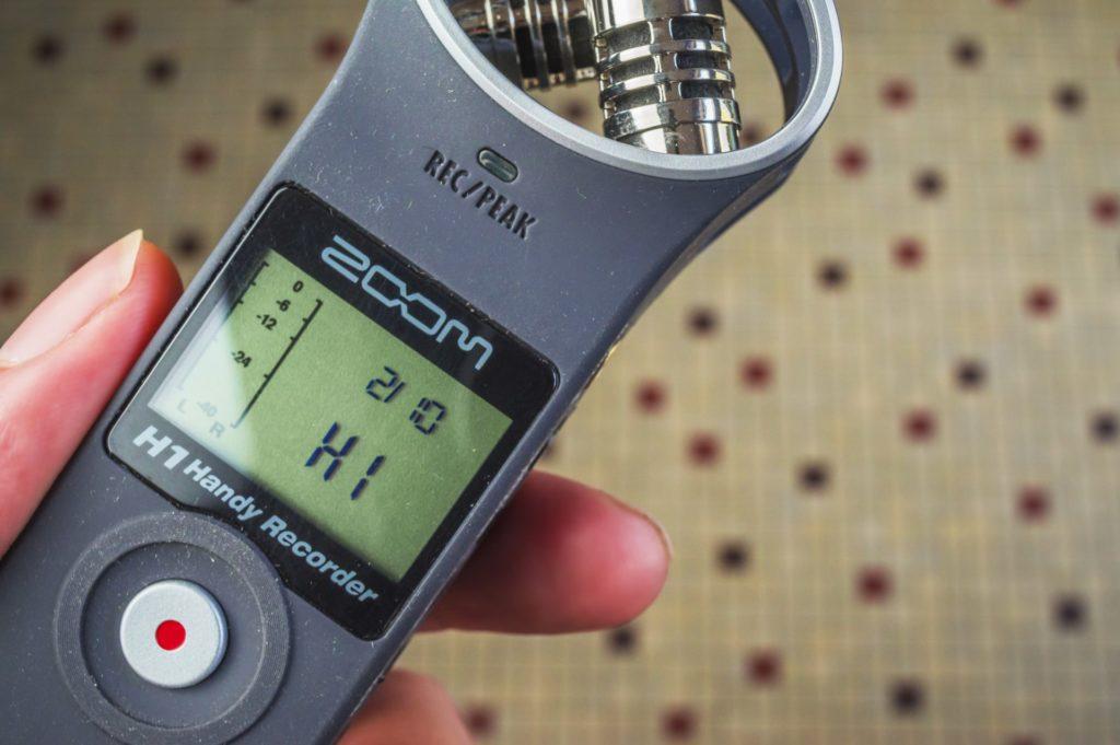 affichage du numéro de version du logiciel interne du Zoom H1
