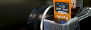 carte SD eye-fi dans un sony nex