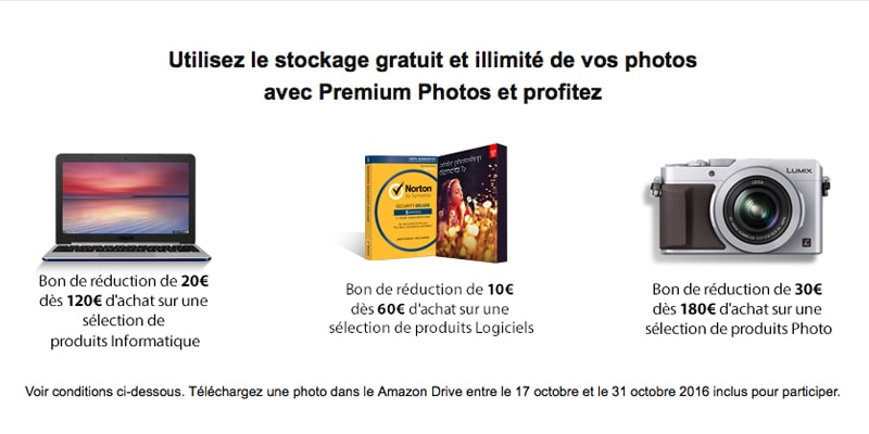 screenshot des offres Amazon : bon de reduction