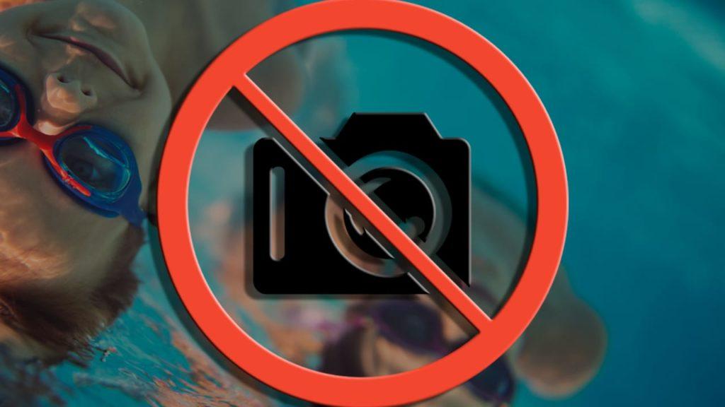 prises de photos interdit dans les piscines