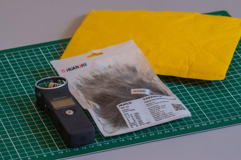 enregistreur zoom H1 et une bonnette anti-vent