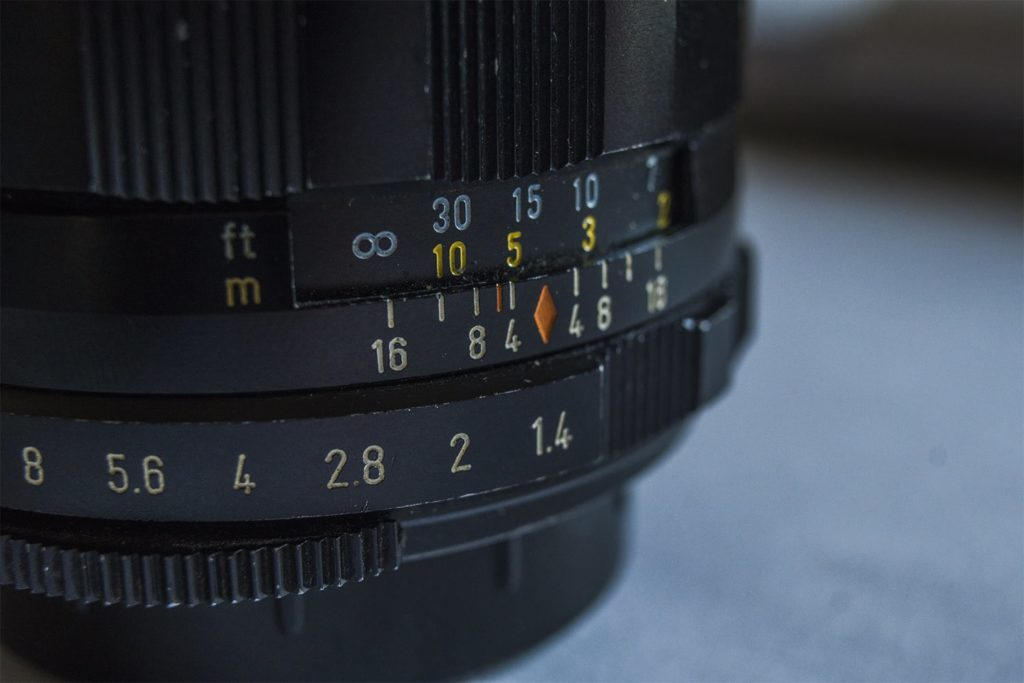le 50mm super Takumar ouverture maximale à F/1.4