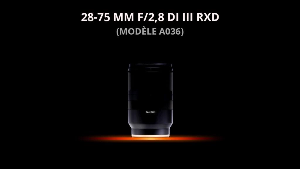 Tamron annonce le 28-75 mm f/2,8 Di III RXD pour Hybrides sony nex alpha à monture FE