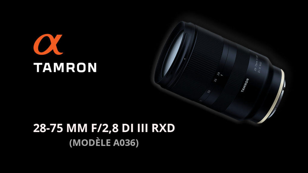Objectif Tamron 28-75 mm f/2,8 Di III RXD pour hybrides SONY FE