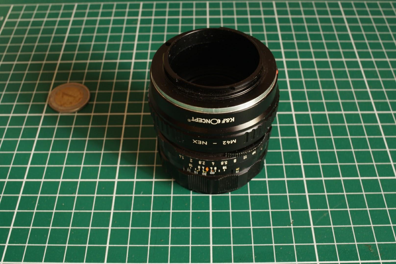 Objectif m42 super Takumar avec bague pour monture à baïonette Sony E